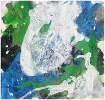 Acrylmalerei, Beize, Marmormehl, Malerei