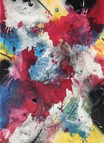 Schüttungen, Abstrakt, Struktur, Acrylmalerei