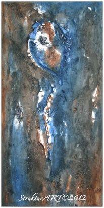 Zeitgenössische kunst, Marmormehl, Tuschmalerei, Beize