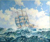 Atlantik, Sturm, Wind, Segel