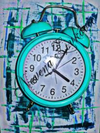 Malerei, Uhr, 3d