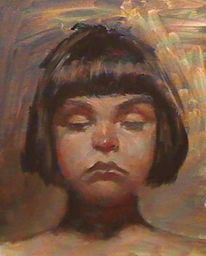 Alla, Prima, Portrait, Ölmalerei