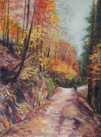 Herbst, Blätter, Wald, Impressionismus