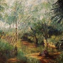 Landschaft, Malerei, Ölmalerei, Wasser