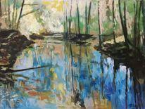 Frühling, Modern, Malerei, Landschaft