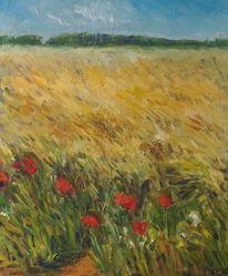Natur, Impressionismus, Feld, Gegenständlich