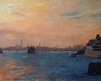 Sonnenuntergang, Venedig, Meer, Schiff