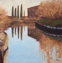 Torcello, Landschaft, Malerei, Kanal