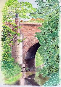 Brücke, Malerei, Architektur