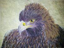 Malerei, Tiere, Adler