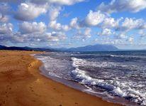 Meer, Griechenland, Sand, Wolken
