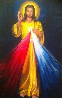 Religion, Acrylmalerei, Jezus, Geburt