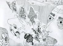 Linien zeichnung, Zeichnungen, Natur, Macht