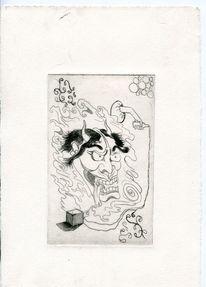 Druck, Kupferstich, Zeichnungen, Natur