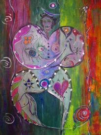 Frau, Farbreisen, Mythlichkeitologie, Körperlichkeit