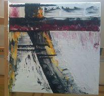 Acrylmalerei, Struktur, Wind, Verwehung