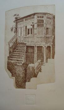 Realismus, Radierung, Ätzen, Ruine