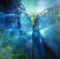 Leichtigkeit, Blau, Licht, Abstrakt