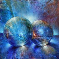 Stimmung, Blau, Hell, Glas
