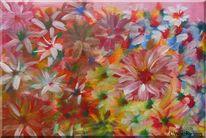 Farben, Acrylmalerei, Blumen, Bunt