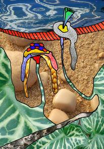 Bunt, Pilze, Bildbearbeitung, Digital