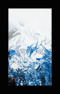 Explosiv, Aufbrausend, Meer, Blau