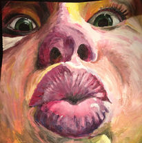 Kuss, Hilflosigkeit, Malerei, Sicht