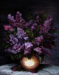 Blumen, Stillleben, Flieder, Strauß