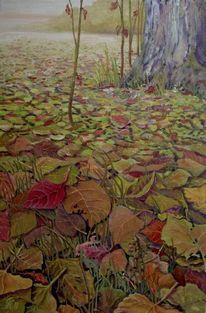 Herbstlaub, Landschaft, Pflanzen, Malerei