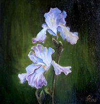 Lilie, Ölmalerei, Malerei