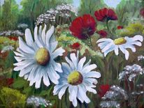 Sommer, Wiese, Malerei