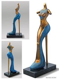Frau, Absatz, Mode, Bronze