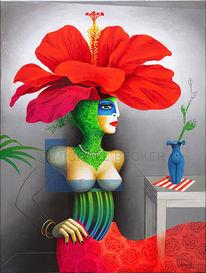 Blüte, Profil, Büste, Hibiskus