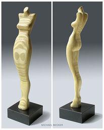 Sperrholz, Mannequin, Marmorsockel, Model