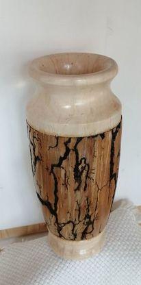 Lichtenberg effekt, Tischdeco, Vase, Drechseln