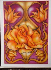 Rose, Liebe heraldig, Dekoration, Malerei