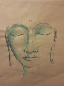 Aquarellmalerei, Liebe, Portrait, Aquarell