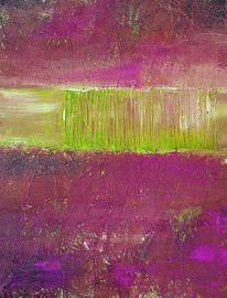 Grün, Pink, Malerei,