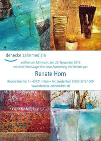 Renate horn, Einladung, Vernissage, Hilden