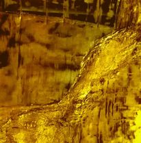 Herbst, Abstrakt, Landschaft, Gold