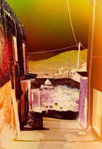 Landschaft, Dorf, Fotografie, Digitale spielerei