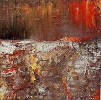 Rot, Abstrakt, Später herbst, Silber