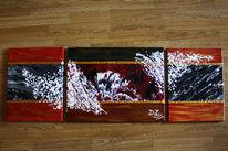Melallic, Malerei, Modern, Malerei abstrakt