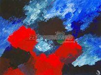 Kontrast, Blau, Feuer, Meer