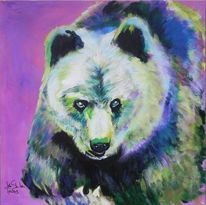 Bär, Acrylmalerei, Farben, Komposition