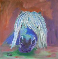 Pferde, Tiere, Acrylmalerei, Malerei