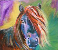 Pferde, Acrylmalerei, Tiere, Pony