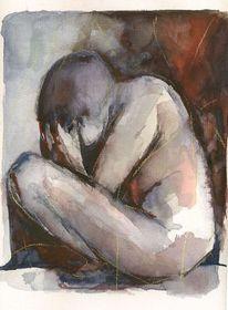 Akt, Menschen, Weinen, Trauer