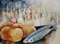 Fisch, Speisung, Brot, Wunder