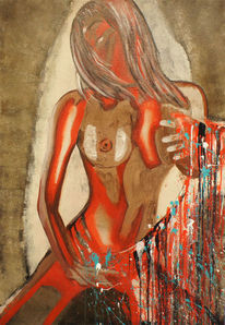Figurativ, Schön, Abstrakt, Rot
